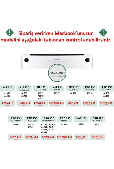 "Codegen Apple 13"" Macbook Air A2337 M1 Mavi Mermer Kılıf Koruyucu + Ekran Filmi CMATM-133BM"