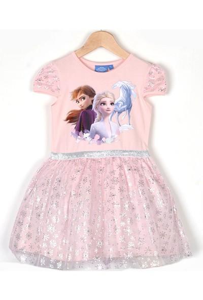 Pumpido Tüllü Frozen Elsa Elbise