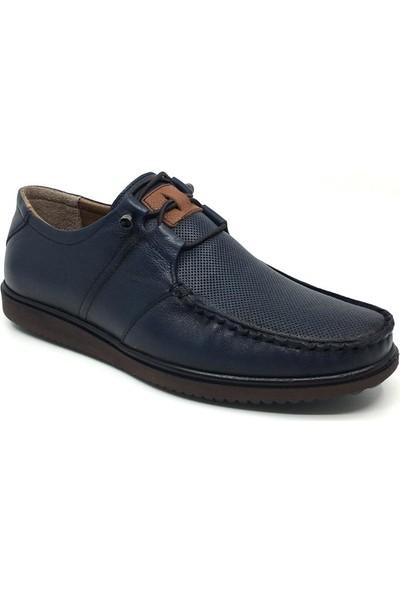 Üçlü Deri Yazlık Rahat Tam Rok Erkek Günlük Ayakkabı 39-46