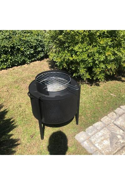 Xperk Dış Mekan Bahçe Şöminesi Mangal 3 Kademeli