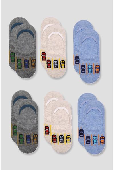 Mem Socks 6'lı Araba Desenli Çocuk Babet Çorap