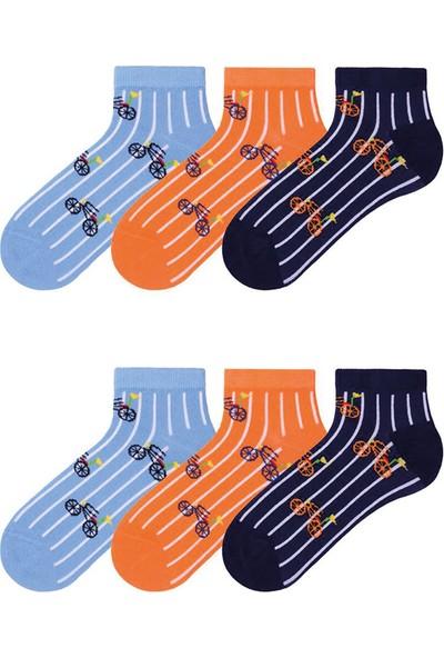 Mem Socks 6'lı Bisiklet Desenli Çocuk Patik Çorap
