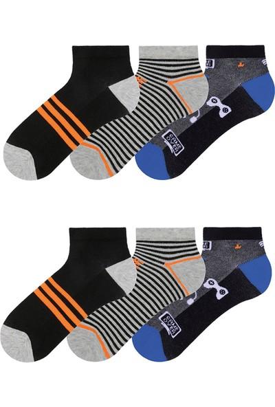 Mem Socks 6'lı Renkli Çocuk Patik Çorap