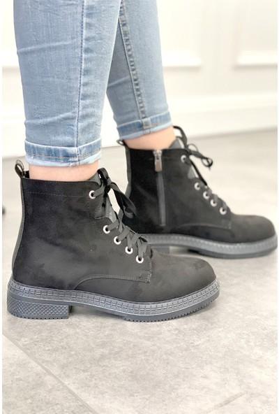 Ayakkabı Frekansı Davix Bot Siyah Süet