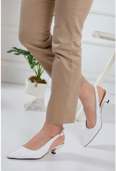Ayakkabı Frekansı Mira Topuklu Ayakkabı Beyaz