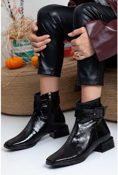 Ayakkabı Frekansı Ribo Bot Siyah Kırışık Rugan