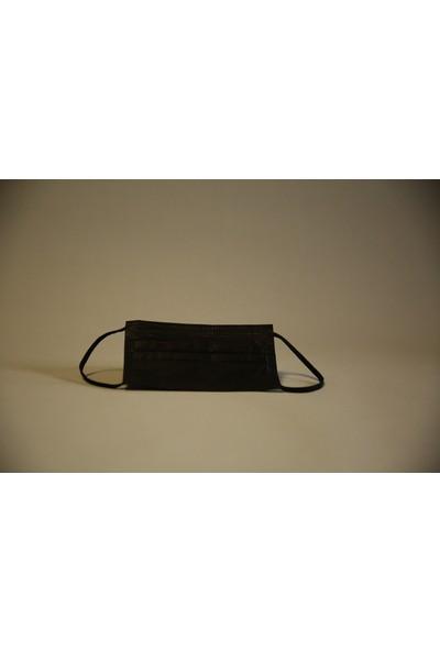 Sely Med 3 Katlı Siyah Maske Meltblownlu 50 Adet-Rahat Lastik