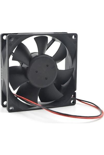 Zauss Dc 12V 4 Pinli 80X80 mm 8cm Kasa Fanı Sleeve Bearing Fan