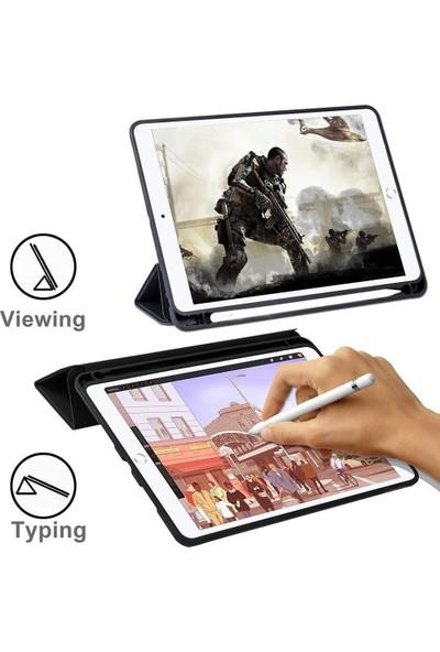 Engo Apple iPad Air 4 Smart Kılıf Kalem Bölmeli Uyku Modlu Tam Koruma