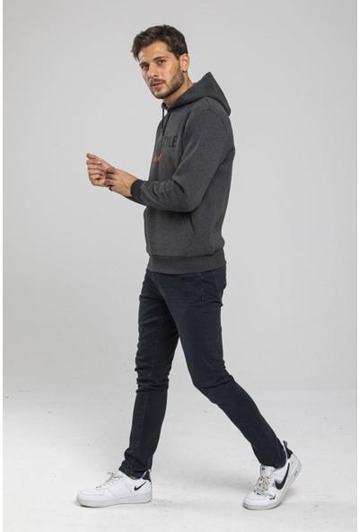 Mysport Erkek 3 Iplik Kışlık Antrasit Melanj Sweatshirt