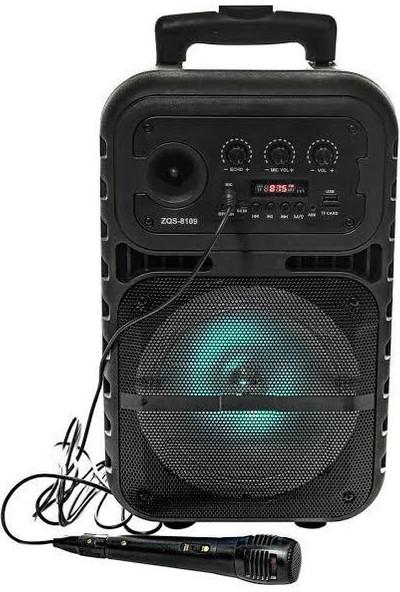 Bt Speaker Taşınabilir Bluetooth Karaoke Hoparlör Mikrofonlu + Kumandalı