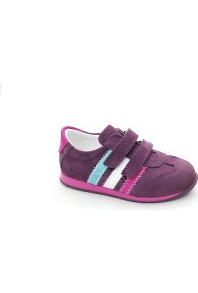 Happy Kids Kız Çocuk Spor Ayakkab Hakiki Deri 600 (21-25 Numara Aralğı) Beyaz-Pembe - 24