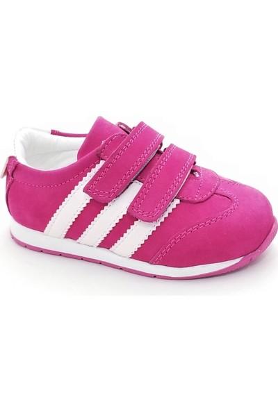 Happy Kids Kız Çocuk Spor Ayakkabı Hakiki Deri 600 (26-30 Numara Aralığı) Beyaz-Fuşya - 30