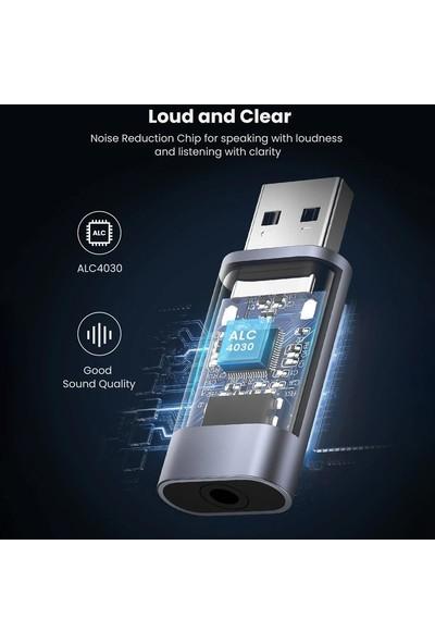 Ugreen USB To 3.5mm Trrs Harici Ses Kartı