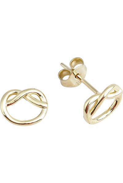Melike Gold 14 Ayar Altın Aşk Düğümü Küpe
