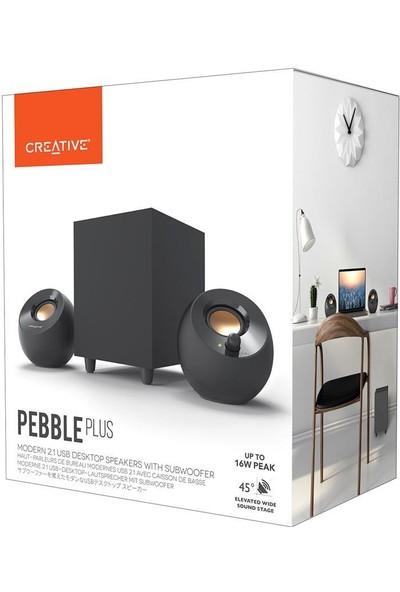 Creative Pebble Plus 2.1 -35W- Multimedya Stereo Hoparlör Seti - Siyah