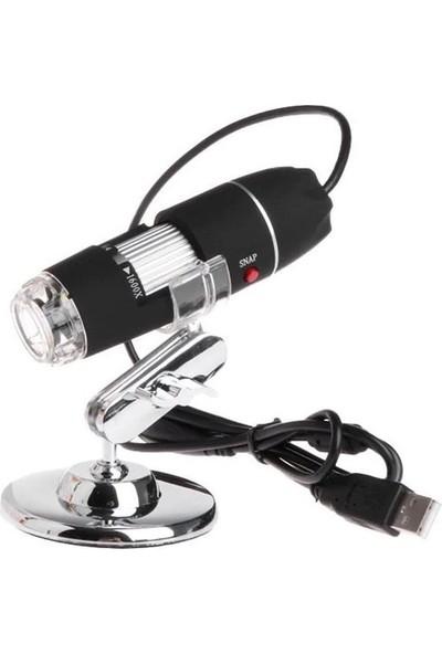 Duhaline Cilt ve Saç Analiz Cihazı 1600X 2.mp USB 8 LED Digital Mikroskop