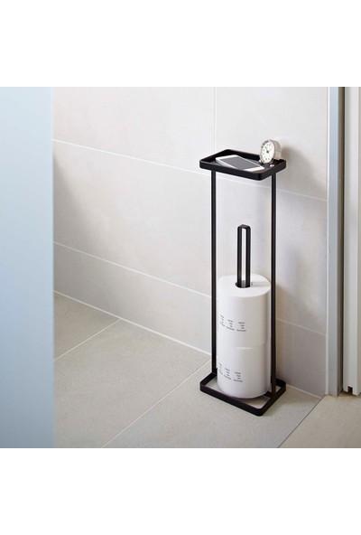 Abronya Metal Kağıt Havlu Tutucu Ayaklı Tuvalet Kağıdı Standı