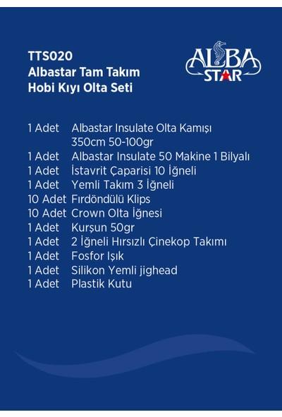 Albastar Tam Takım Hobi Kıyı Olta Seti - 360cm Kamışla - TTS020