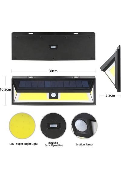 Solar Bahçe Lambası 180 Ledli 3 Modlu Sensörlü Kumandalı