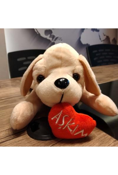 Yumurcak Kalpli Aşkım Peluş Köpek 40 cm