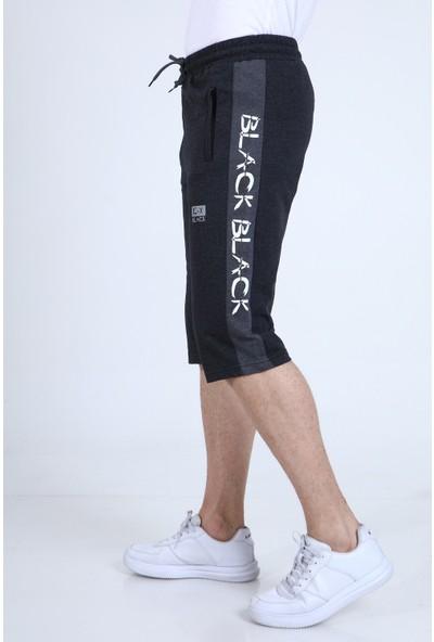 Rodi TY21YE131251 Antrasit Erkek Black Yazı Şeritli Penye Kapri