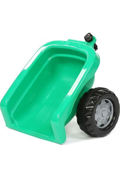Jusso Pedallı Römorklu Traktör - Yeşil