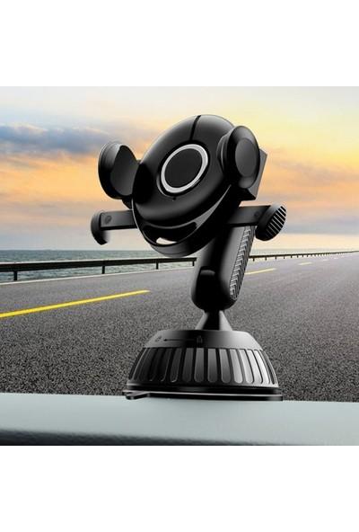 Dybox Torpido Ustü 360 Dönerli Araç Içi Telefon Tutucu SS-208Z Siyah