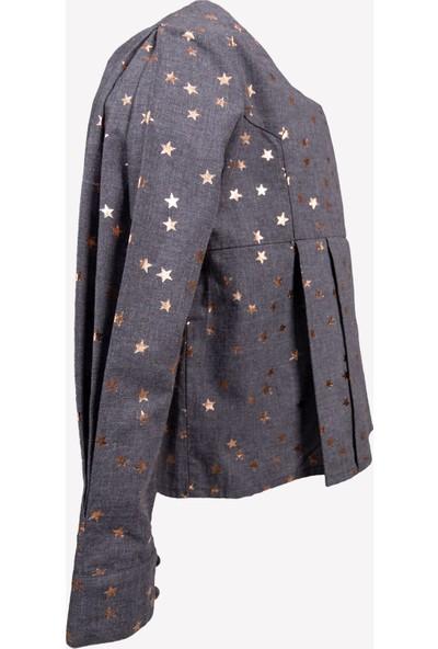 Ozmoz Yıldız Baskılı Kız Çocuk Özel Gün Bluzu