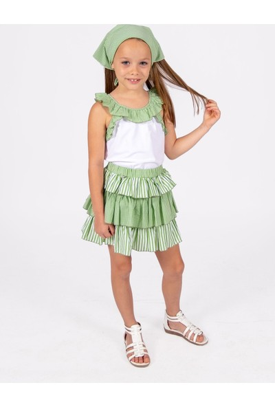 Ozmoz Fırfırlı Kız Çocuk Yazlık Etek