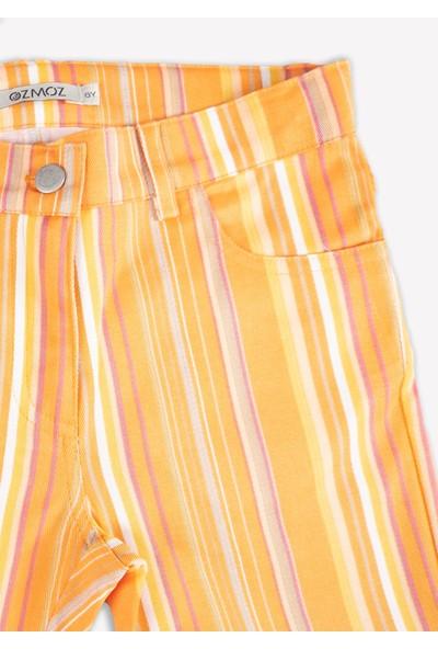 Ozmoz Çizgili Dokuma Kız Çocuk Pantolon