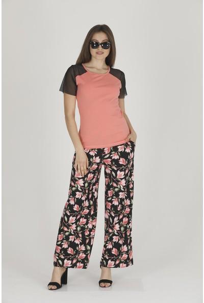 Teknur Kadın Şık Tshirt Pantolon Takım 28204
