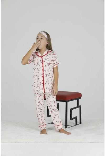 Teknur Kısa Kollu Kız Çocuk Pijama Takım 40609