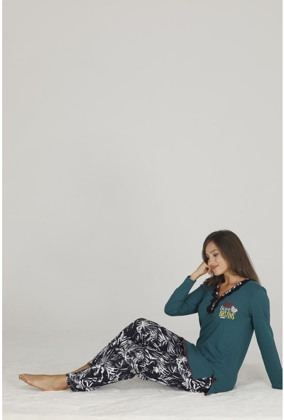 Teknur Kadın Modal Pijama Takımı 70121