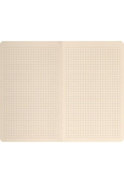 Matt Notebook Lastikli Defter Kareli 13 x 21 cm Mor