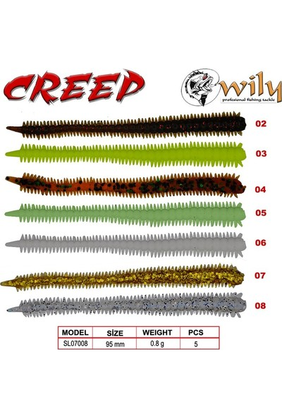 Wily Creep Silikon Yem 9.5 cm 0.8 gr