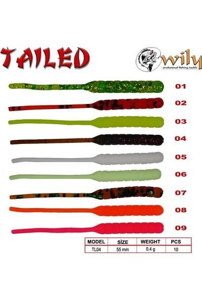 Wily Tailed Lrf Silikon Yem 5.5 cm 0.4 gr