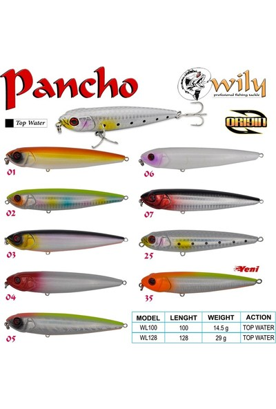Wily Pancho 10 cm Maket Balık 14.5 gr