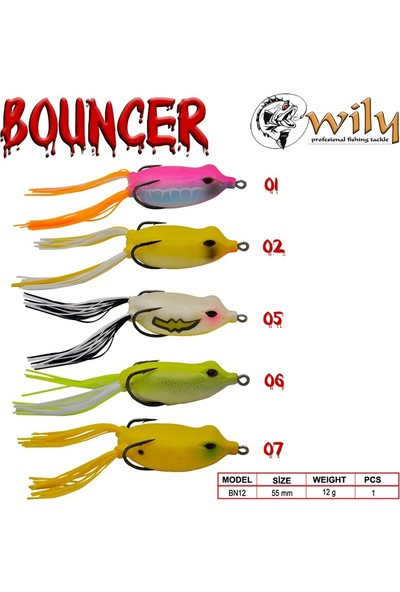 Wily Bouncer Silikon Kurbağa 5.5 cm 12 gr