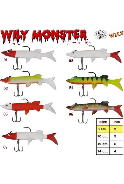 Wily Monster Turna Silikon 8 cm