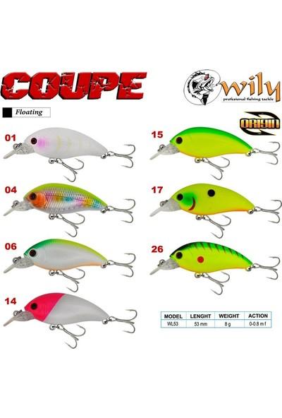 Wily Coupe 5,3 cm Maket Balık 8 gr (0-0.8m)