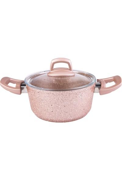 Emsan Arven 7 Parça Pink Granit Tencere Seti