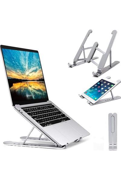 CoverZone Katlanabilir Kademe Ayarlı Kaymaz Taban Laptop Notebook Standı