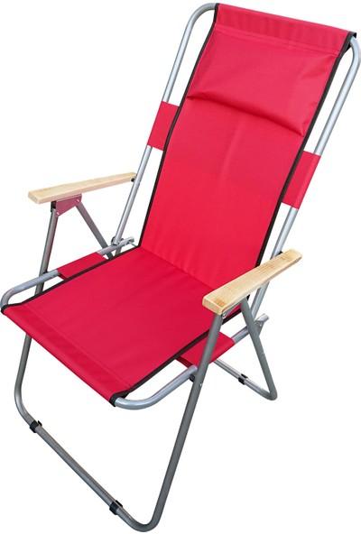 Tevalli Katlanır Arkalıklı Yastıklı Piknik ve Kamp Sandalyesi