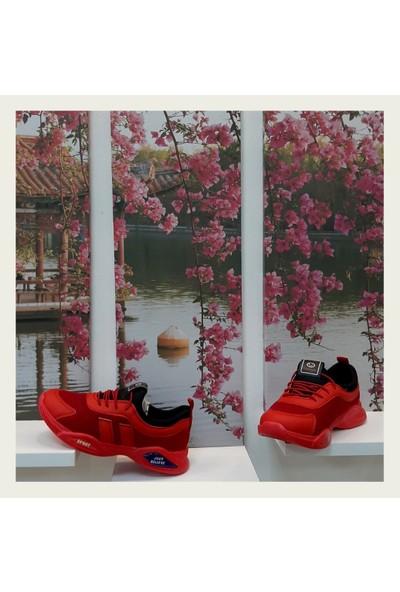 Carby 2010 Kırmızı Spor Ayakkabı