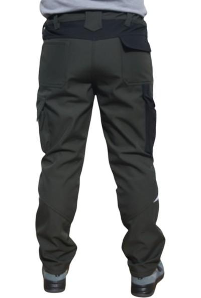 Uniprom Softshell Pantolon Roma Model Su ve Rüzgar Geçirmez Haki