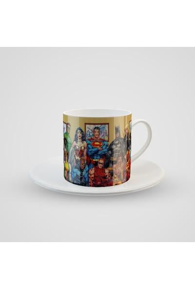 Promosyon Yaptır Süper Kahraman Baskılı Türk Kahvesi Fincanı