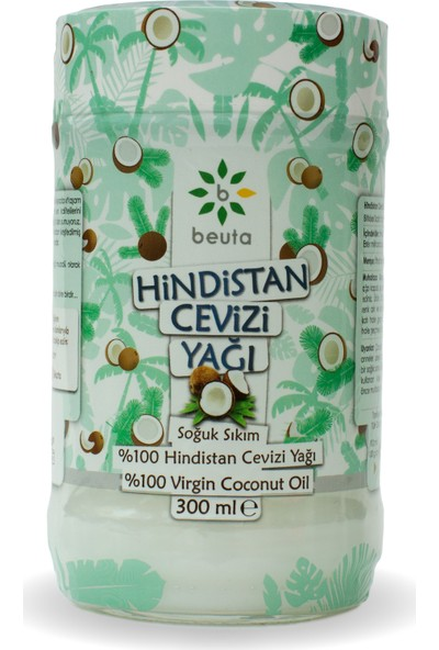 Beuta Hindistan Cevizi Yağı Soğuk Sıkım 300 ml