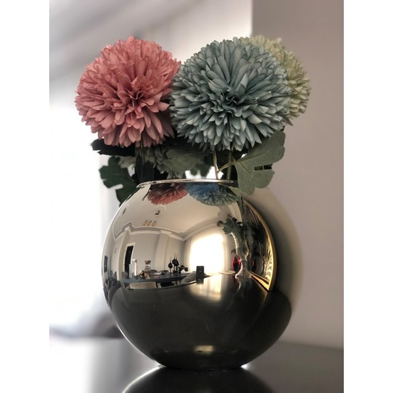 Paşabahçe Cs Home Design Gümüş Fanus Vazo