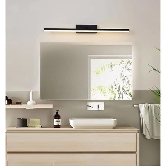 Sinem Avize Siyah Tablo Ayna Banyo Apliği Günışığı Ledli 50 cm Aplik